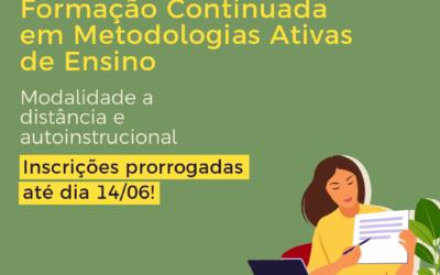 """Divulgação de curso com inscrições abertas da EGGP: """"Formação Continuada em Metodologias Ativas de Ensino"""""""